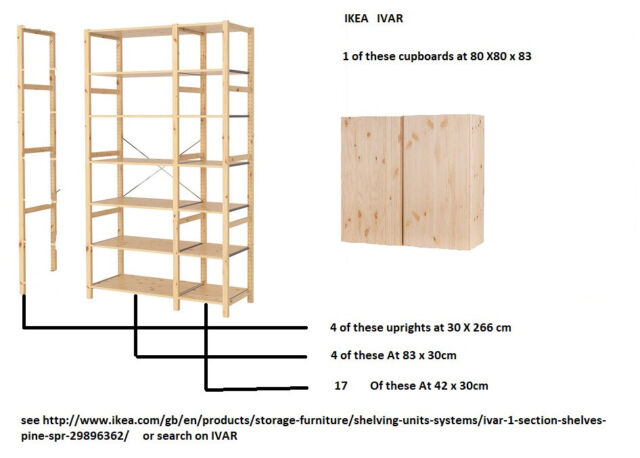 Ikea Ivar 1 Cabinette 4 Uprights 4 Large Shelves 17 Small Shelves In St Helens Merseyside Gumtree