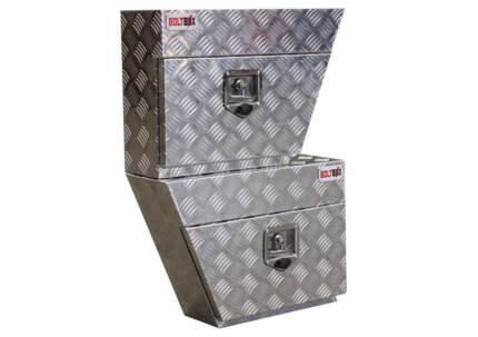 PAIR UNDERTRAY ALUMINIUM TOOL BOXES 600 x 420 x 200