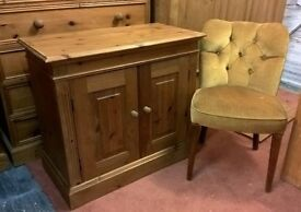 *FREE DELIVERY* Beautiful Solid Pine Roman Panelled Cabinet (Shabby Chic Dresser TV Media Sideboard)