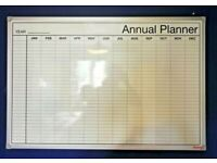 STAPLES Annual Dry Wipe Wall Planner