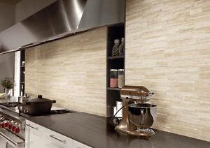 Piastrelle gres rivestimento pareti moderno effetto pietra muretto fiordo todi - Rivestimento cucina finta pietra ...