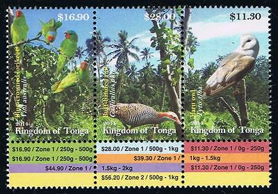 Tonga Birds Defintitve Issues - Part 3 Postage Stamp Issue