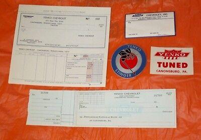 5 NOS Yenko Chevrolet Memorabilia Original Dealership Items Corvette Camaro SCCA