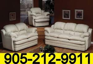 Leather air Canadian made sofa set