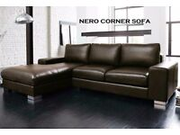 BRAND NEW NERO CORNER SOFA ONLY £200 - **SPECIAL DEAL ONE WEEK ONLY**