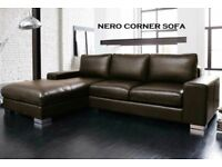 50% off brand new Leather corner sofa black or brown