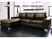 amazing NEW NERO LEATHER CORNER SOFA SPECIAL OFFER ONLY TODAY