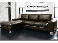 BRAND NEW NERO CORNER SOFA ONLY ONE LEFT + PRICE INCLUDES DELIVERY ON SOFAS