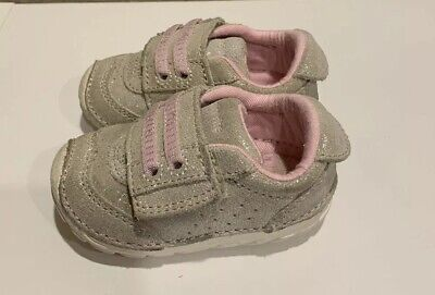 Stride Rite Baby Girls Shoes..size 3W..champagne..