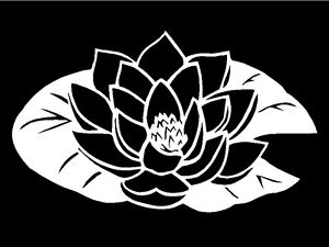 Lotus-Flower-Decal-wall-art-mirror-laptop-car-window-notebook-sticker-graphic