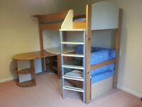 Stompa Casa High Sleeper Cabin Bed - Furniture and Bed all in one