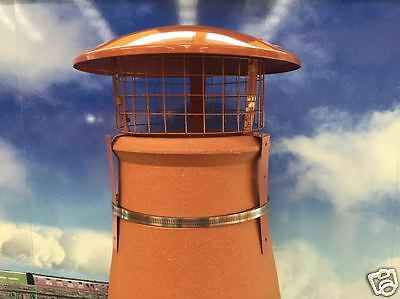 Chimney Pot bird and Rain Cowl with square mesh. solid fuel / wood / strap fix  Solid Fuel Chimney