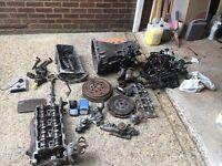 Mercedes sprinter 2004 parts gearbox, complete head with manifold, flywheel etc