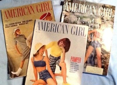 3 X American Girl Scout EUC Magazine May June Aug 1965 Vintage Teen Fashion MORE