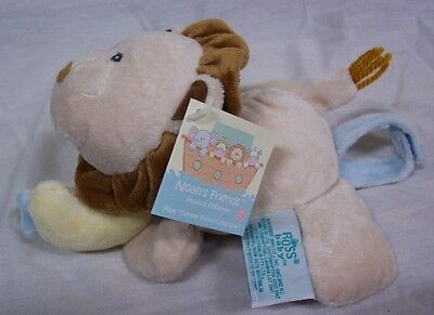 """RUSS Baby Noah's Friends MUSCIAL PULL TOY LION 6"""" Plush STUFFED ANIMAL Toy NEW"""