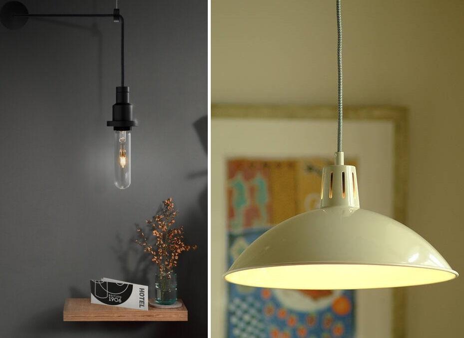 "Garden Trading ""Battersea"" + OSRAM Vintage 1906 ""PenduLum"" Pendant Ceiling Lights, BRAND NEW"