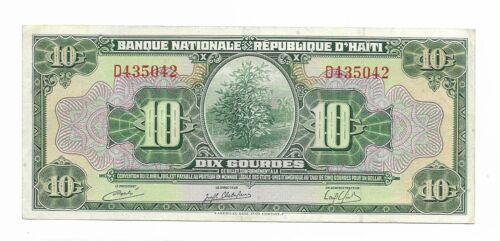Haiti 10 Gourdes ( ND 1919 ) VF P181a