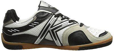 Kelme Star 360 Michelin Mens Leather Indoor Soccer Shoes White   Black