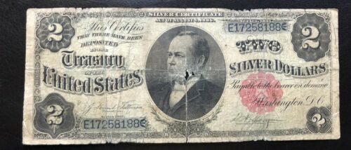 1891 $2 Windom Large Size US Silver Certificate Fr 246