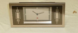 BULOVA MANTEL FRANK LLOYD WRIGHT ROBIE RUG TABLE CLOCK B7733