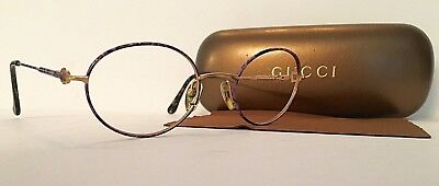 GUCCI Horse bit vintage sun/eyeglass frames with leather case & cloth