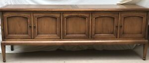Table, wood with cabinet