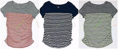 - Womens Maternity Crew Neck Tee T Shirt Top Liz Lange NWT size XS S M L XL XXL
