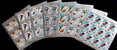 GUINEA ECUATORIAL 1972 Sapporo Olympics Sport Skiing Set x 7 MNH(84 Stamps)GU6