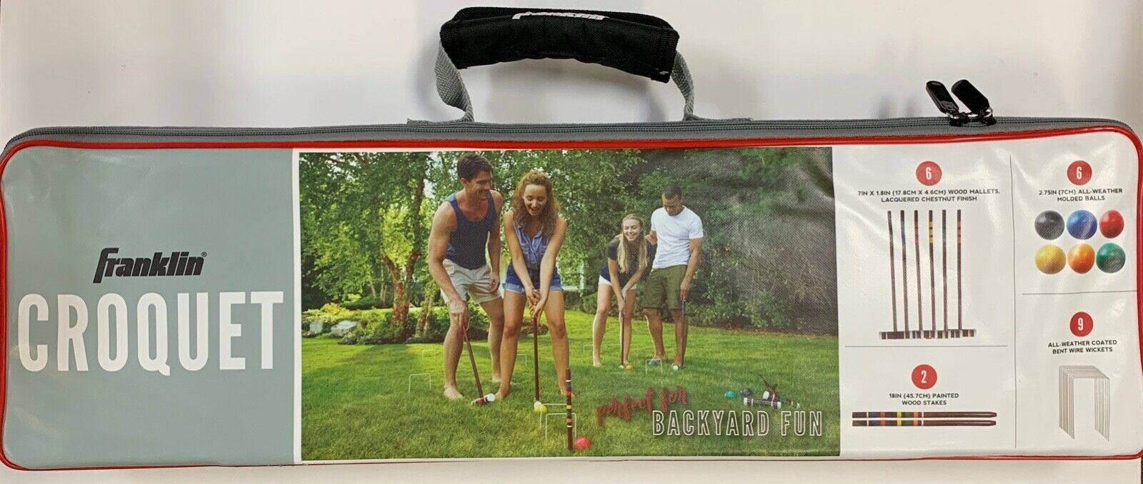 Franklin Sports 50211 Classic Family Outdoor Game Croquet Se