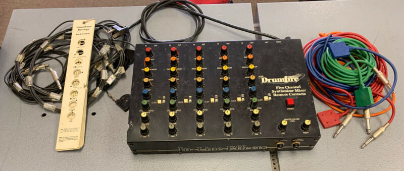 Vintage DrumFire DF500 Five Channel Synthesizer Mixer with Triggers & Cards