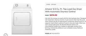 New Amana washer, dryer combo for sale