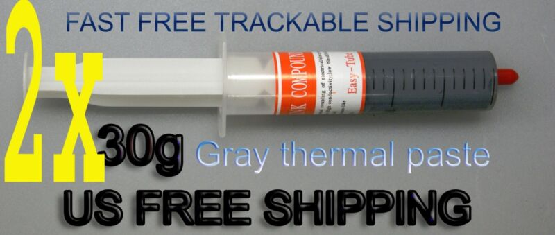 2 x 30g Gray Syringe Led GPU CPU XBOX360 Heaksink Compounds Thermal Paste