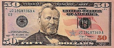 50 Dollar Bill Series 2004   2013 Selected Frb Districts Lightly Circulated