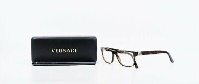 VERSACE Unisex Rectangular Shiny Tortoise Glasses MOD 3211 108 53mm w/ Case