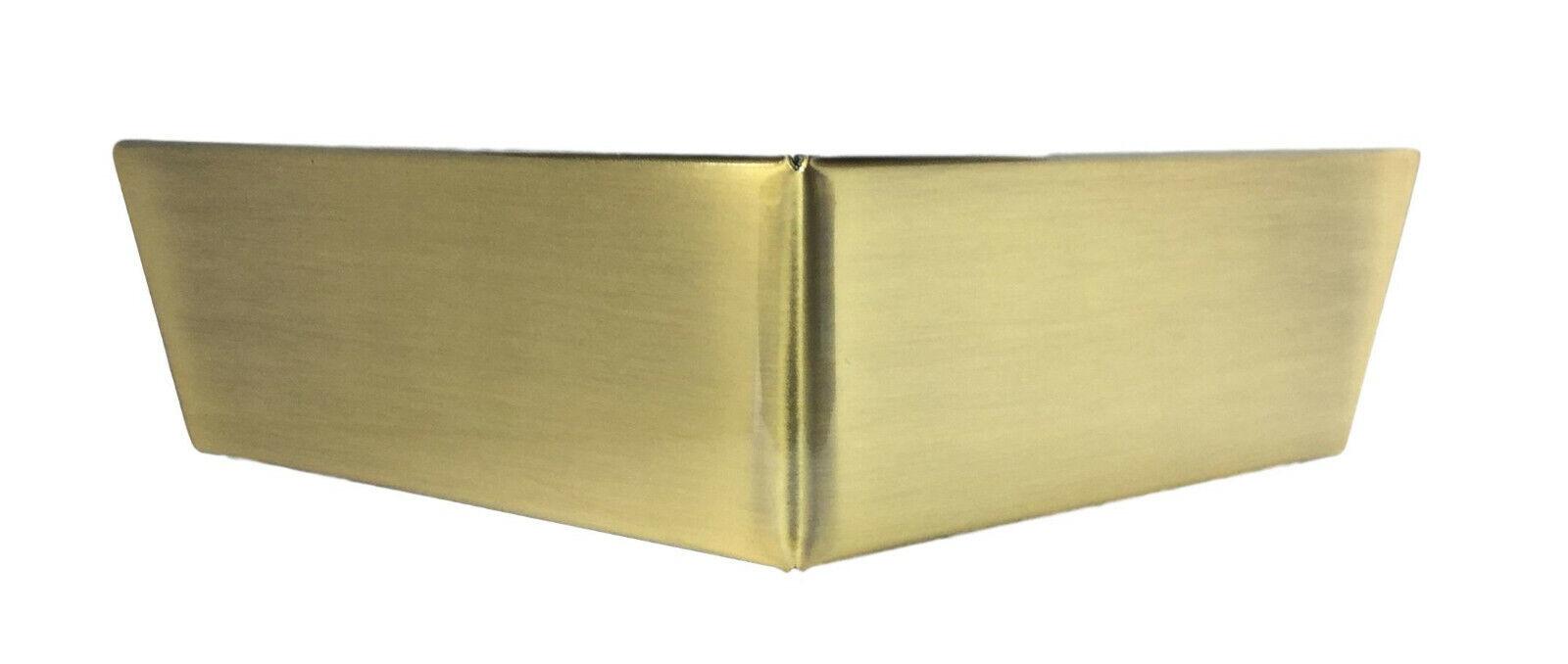 2-1/2″ Brushed Brass Metal Triangle Corner Furniture Legs – Set of 4 Furniture