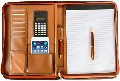 Portfolio Padfolio Zippered Professional Business Organizer W Calculator Memo