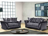BRAND NEW 3 AND 2 SEATER LUX FABRIC SOFA SUITE SETTEE, CORNER AVAILBLE