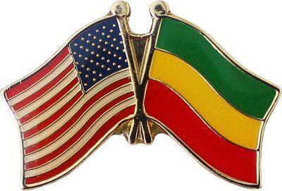 Wholesale Pack of 50 USA American Ethiopia Flag Hat Cap lapel Pin