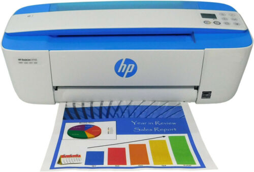 Refurbished DeskJet 3755 Wireless All-in-One Printer (Blue)