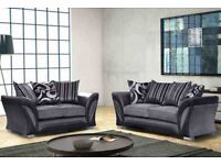 3 AND 2 SEATTER LUX FABRIC SOFA SUITE SETTEE, CORNER AVAILBLE