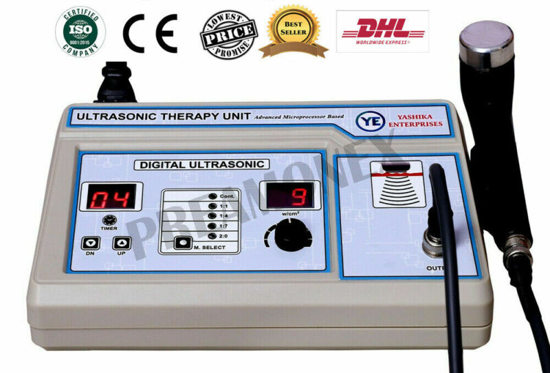 1-Mhz Freq. Ultrasound Therapy Machine Portable for Back & Knee Pain relief -SHR