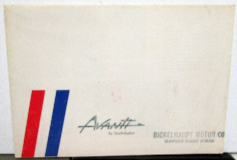1963 Studebaker Avanti Most Advanced Automobile Color Sales Folder Original