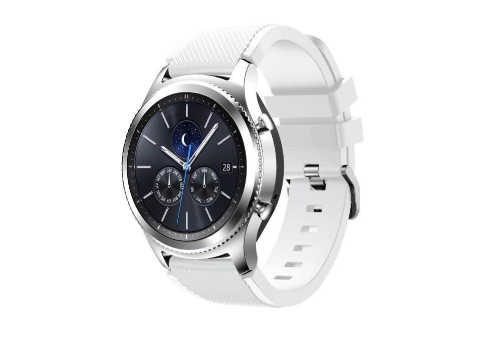 Samsung Galaxy Gear S3 Classic With White Silicone Sport Band SM-R770NZSAXAR