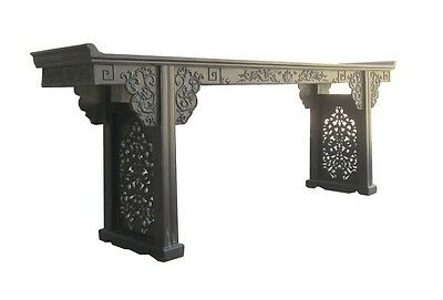 Купить Long Chinese African Zitan Double Dragon Two Sides Carving Altar Console Table W