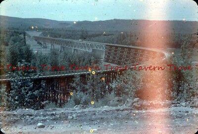1958 Mystery long wooden Train Trestle Washington? Slide dd94