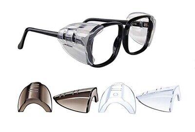 2 Pairs Side Shields For Eye Glasses Slip On Safety Glasses Shield Universal Us