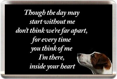 JACK RUSSELL FRIDGE MAGNET MEMORIAL ANIMAL DOG PUPPY TERRIER (REF JGJRT17)