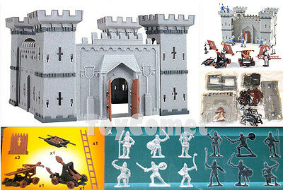 Castle Playset Knights Catapult Medieval Toy Soldiers Figures & Accessories