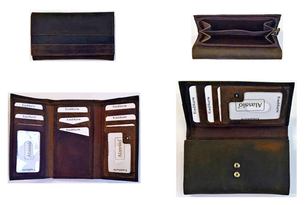 Alassio Geldbörse Damen-Geldbörse Geldbeutel Brieftasche Portemonnaie Leder