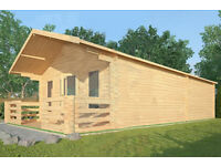 Ardingley Log Cabin - 5m x 9m - Skinners Sheds - Created by Nature - Built by Hand